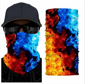 Outdoor senza saldatura sciarpa magica Maschera per il viso maschere in bicicletta equitazione Warm tubolare Neckerchie unisex multifunzione maschere facciali di favore di partito LJJP81