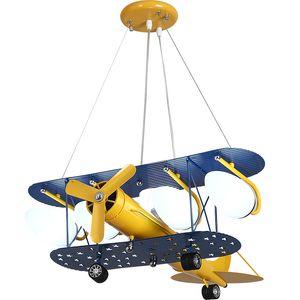 Cartoon LED Pendelleuchten Für Schlafzimmer Jungen Hängelampe Kinder Pendelleuchten Flugzeug HangLamp Kinder Leuchten