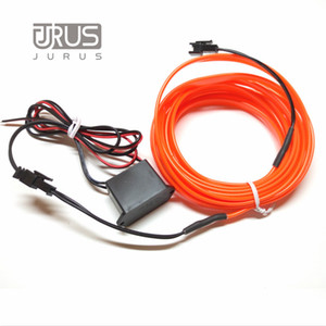 1M / 2M / 3Meter / 5M 자동차 조명 유연한 네온 빛 튜브 엘 와이어 12V 인버터 로프 발광 라인 램프 LED 자동차 액세