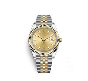 41 mm del reloj para hombre automática de deportes relojes mecánicos de oro dos tonos de marcación diseñador del vestido de la manera del reloj Casual simple