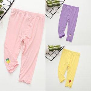 Yaz 2020 çocuk meyve tozluk dar pantolon Meyve dar pantolon çocuk rahat renkli kız tozluk kırpılmış