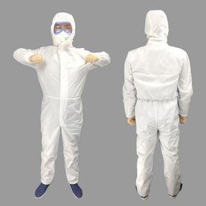 Безопасность защитный костюм заводская лаборатория одноразовый нетканый защитный костюм свободный размер защитная одежда прочный долговечный халат