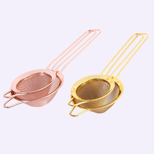Rose Gold Color Oil Grid Black Golden Colors Cooktail Strainer Cone Cocktails Filter Screen New Arrival 4 5lg L1