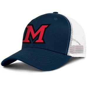 Miami University RedHawks football logo mens and womens adjustable trucker meshcap designer sports team best baseballhats wordmark Mesh