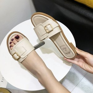Shoes Slippers Casual Slipers Women Summer Woman Slides Low Luxury Flat 2020 Beach Soft Rome Fabric PU Fashion TPR