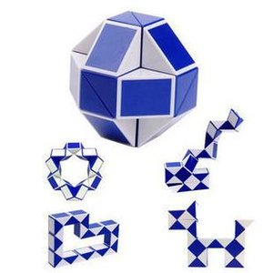 Hot Sale Mini Magic Cube New Hot Snake Shape Toy Game 3D Cube Puzzle Twist Puzzle Toy Gift Random Intelligence Toys Supertop Gifts