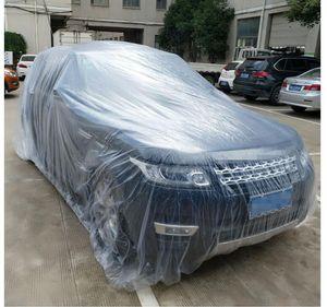 بقعة المبيعات المباشرة سيارة مخصصة المتاح السيارات الملابس PE فيلم المواد غطاء السيارة مخصصة بلاستيك شفاف سماكة