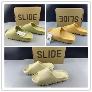 2020 nuevos deslizadores de diapositivas sandalias de los hombres de las mujeres zapatos de baloncesto de las zapatillas de deporte casuales de la moda al aire libre entrenadores qinmin123 tamaño de calidad superior 37-46