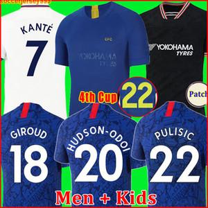 Chelsea CFC KANTE ABRAHAM MONTAJ LAMBASI ODOI JORGINHO PULISIC futbol forması 2019 GIROUD WILLAN futbol forması 19 20 erkek çocuk kiti Dördüncü Kupası 4th