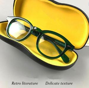 couleur Newarrival lunettes planche frame vintage 7teeth temple Johnny depp cadre unisexe lunettes de soleil 49/46/44 pour des lunettes optiques