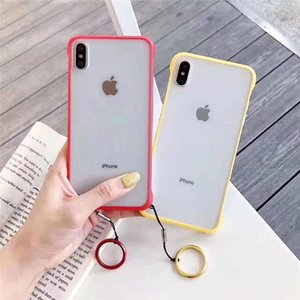 iPhone 6 6S 7 8Plus X XS XR XS Max Matte Back Phone Shell 용 프레임 전화 케이스가없는 초박형