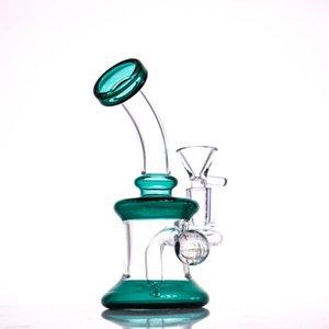 2020 New Mini Glass Water Bong Pipes Colorful Bongs Heady Pipe Dab Rigs Small Bubbler Hookahs Beaker Bong oil rig