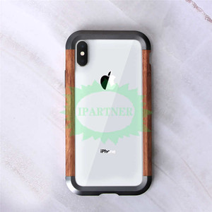 JSKEI Ferro Madeira capa para iPhone X Xs Max Luxo Metal Duro Alumínio madeira tampa do telefone iPhone Para Xs Xs max Quadro Protect Bumper