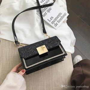 Sense avancée Bagages Fille 2019 Nouveau mode simple Paillettes une épaule bagages net rouge Slant Petite Place Sac