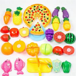 24 Pcs / Set En Plastique Légumes De Fruits Pretend Play Cuisine Couper Jouets Learning Education Développement Cuisine Jouets Pour Enfants