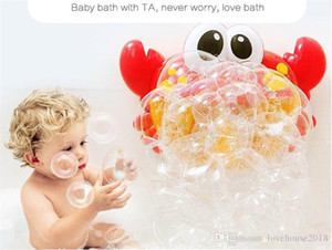Corea burbuja Cangrejos divertidos juguetes para niños Baño Música Bubble Maker Bañera Piscina Jabón Máquina niños baño baño del bebé Juguetes