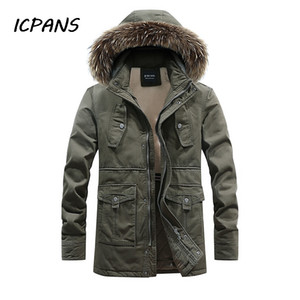 ICPANS -20 degree Thicken Long Winter Jackets Men Warm Parka Hooded 2019 Casual Multi-pocket Snow Men Coats Big Size XXXL 4XL