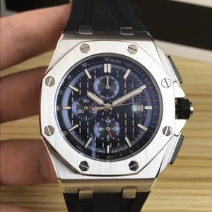 Top Sale 42mm Luxury Fashion Mens Automatic Watches Mechanical Watch Men's Black Rubber Strap Sports Wristwatch