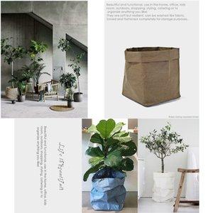 Fruits Vegetable Kraft Storage Bags Paper Garlic Wearable Untearable Onion Plant Flower Pot Bag Basket Home Storage Organizer