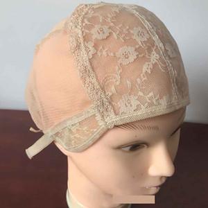 3PC completa Lace Wig tampas de alta qualidade peruca de cor Caps pele cap Tecelagem peruca para mulheres homens tecelagem Perucas Cap Hairnets frete grátis