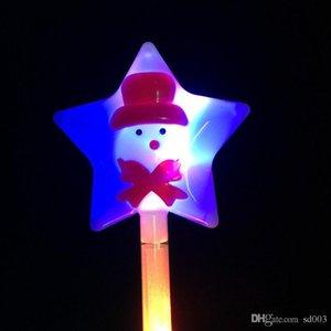 Led Light Up Toy Light Stick gran tamaño Feliz Navidad fiesta Flash muñeco de nieve Santa Claus fluorescente palos Popular 2 9ky J1