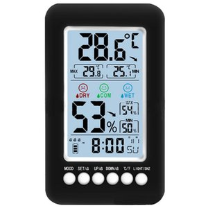 Acoustic Big Lcd Color Digital Alarm Clock With Temperature Thermometer Humidity Hygrometer Table Desk Weather Station