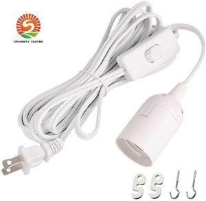 Cord longa Lanterna Luz Pingente Lamp 12 pés Cabo de extensão Cabo Com On / Off Switch ou artes switch Para E26 / E27 Base de lâmpadas
