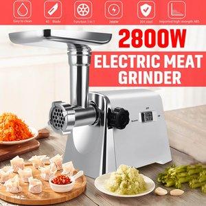 2800W 220V viande électrique puissant en acier inoxydable Grinders Accueil Saucisse Stuffer Hachoir Heavy Duty viande Ménage Mincer