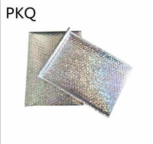 Gran tamaño 23 * 30 cm Laser Silver Mailing Envelope Courier Bag Bubble Mailers Sobres acolchados Embalaje Bolsa de envío al por mayor