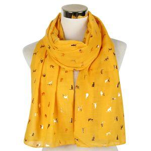 2019 mode glitter glänzend schwarz weiße folie gold metallische katze schal wrap schal dünn foulard damen frauen