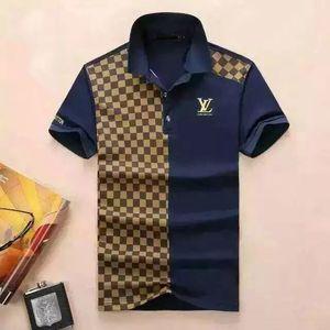 Luxo European Design Italiano Polo shirt moda de luxo Medusa T-shirt dos homens do algodão T-shirt ocasional M-3XL