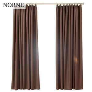 Norne Room Thermal Insulated Shading Rate Around 90% Blackout Curtains Noise Blocking Window Treatment drapes curtain for Living Room