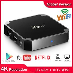 X96 mini Android TV BOX X96mini Android 7.1 Smart TV Box 2 ГБ 16 ГБ Amlogic S905W Четырехъядерный процессор 2,4 ГГц WiFi Приставка 1 ГБ 8 ГБ