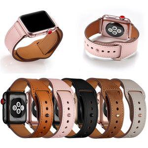 Apple genuino cuero banda reloj de 42 mm bucle de 38 mm Banda de reloj para iWatch 44mm 40mm 5/4/3/2/1 Accesorios pulsera
