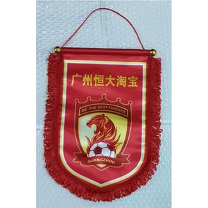 China, Guangzhou Evergrande CSL Taobao FC 30cm * 20cm Tamaño Decoración bandera de la bandera para el jardín de festivo