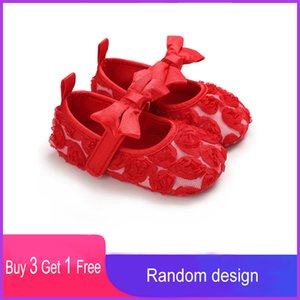 Spring Casual Soft Baby Girls Princess Butterfly-knot First Walkers Newborn Kids Toddler Shoes Children's Bow-knot Flowers Flats