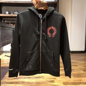 Luxo Mens Designer HoodiesHigh Qualidade clássico Blackletter Moda padrão impresso Mens Mulher Black Zipper Moletons Tamanho S-XL 9 Styles