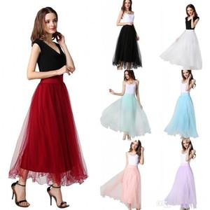 Pas cher En stock Fée femmes d'été Tulle Tutu Jupe pour Birthday Party Prom Wears A-ligne haute taille courte partie Jupes Livraison rapide CPA977