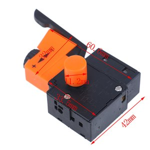 Switches Hot 1pc AC 220V 6A FA2 61BEK Adjustable Speed Switch Plastic Metal For Electric Drill Trigger Switches New
