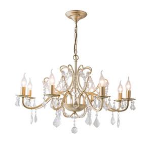lámparas de cristal de oro de lujo lampadario lustre vendimia AC110V 220v cristales dinning luces del pasillo de la lámpara habitación