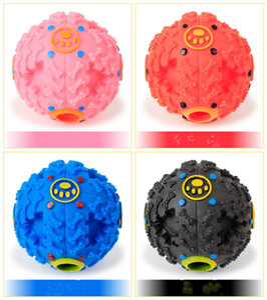 Fournitures pour animaux de compagnie Jouets pour chiens Jouet pour animaux de compagnie Chiot Chien Fuite de la balle Alimentaire Balle de jouet sonore Jouet Chien Chat Chat Squeaky Chews Puppy Squeaker Sound
