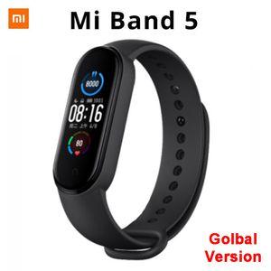 (Pré-vente) Xiaomi Mi Band 5 Bracelet 8 intelligent à écran tactile couleur Miband 5 Wristband Fitness sang oxygène piste moniteur de fréquence cardiaque Smartband