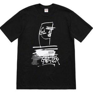 Mens Designer camiseta 19ss Estilo Verão Rosto Casual Doodle de manga curta T-shirt para homens e mulheres Asian S-XL