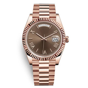 4 Daydate Yellow Rose Gold Watch Мужские Женщины Роскошные Часы Сни-дата Президент Автоматический дизайнер Часы Механические ROMA DIAL Наручные часы Reloj