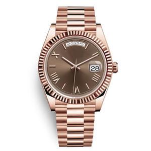 4 DAYDATE Yellow Rose Gold Uhr Mens Women Luxury Watch Day-Date Präsident Automatic Designer Uhren mechanische Roma Dial Armbanduhr Reloj
