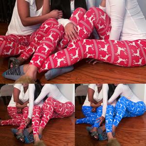 Женской мода Xmas Оленей Снежинка печать Эластичных тонких леггинсы брюки сон Днище Упругие Рождество