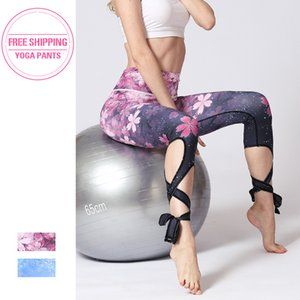 Women Fitness Yoga Pants Slim High waist Sport Leggings Gym Elastic Romantic Printed Long Tights for Running Tummy Control Y200601