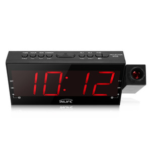 Inlife Digital Dimmable Projection Alarm Clock con Radio