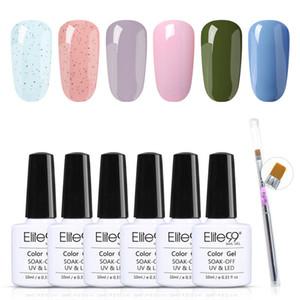 Elite99 7 шт / много геля для ногтей Наборов LED UV для Nail Art Soak Off ногтей гель лак 10мл Ню Красные Гибридные лак для ногтей