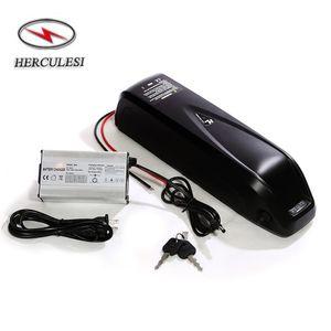 Batterie au lithium de vélo électrique 500W 350W 48V 14AH 13S4P NCR18650GA Li Ion DownTube Mont Shark Pack avec chargeur 2A